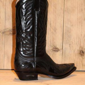 sendra boots dames western boots zwart 11 zwart leer Direct